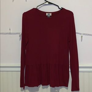 Old navy red long sleeve shirt